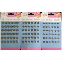 Invisible Snap Fasteners Poppers Press Studs Stud Sew On Fastener Nylon