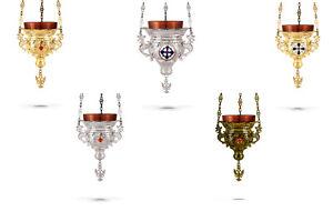 Orthodox Vigil Lamp Kantili Ewiglicht Ikonenampel +FREE Wicks Sanctuary Lamp