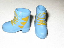 #545 Barbie Shoes: Blue & Yellow Hiking Boots