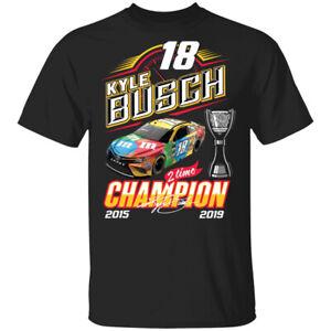 Kyle Busch Signature NASCAR Cup Series Champion T-Shirt