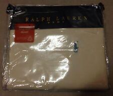 Ralph Lauren Home Cream Parchment Cotton King Size Duvet Quilt Cover 230 x 220