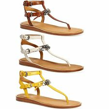 Coach Womens Becky Embellished Slip On Open Toe Ankle Strap Casual Thong Sandals