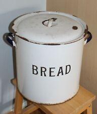 Old Enamelled Bread Bin