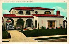 Postcard Charles Murray Home Hollywood California