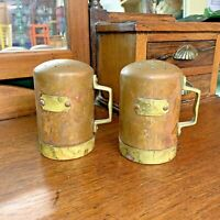 Vintage Salt & Pepper Shakers Copper & Brass Kitchenalia
