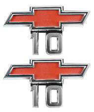 1967 1968 Chevy Pick Up Truck 10 Front Fender Emblem 10 1969 Van Pair