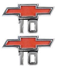 1967 1968 Chevy Pick Up Truck 10 Front Fender Emblem 10 1969 Van Pair