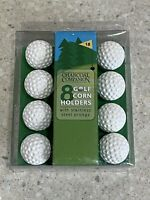New 8 Golf Ball Corn Holders Charcoal Companions Stainless Steel Prongs Cooking
