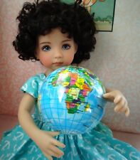 """Globe ball toy for Little Darling or Riley Kish or other 7-14"""" doll for Diorama"""