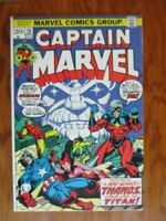 Captain Marvel 28   2nd Thanos Cover and 4th Appearance