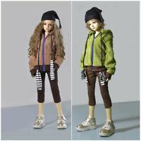 Doll Clothes 1/3 1/4 1/6 BJD Corduroy Hooded Jacket Coat Pants Hat Suit Fashion