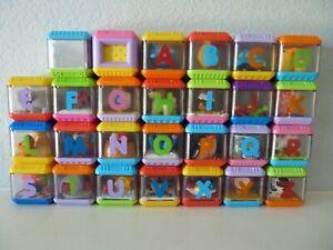 27 PEEK A BOO BLOCKS ALPHABET Sensory Letters Set w/Bag  ABC
