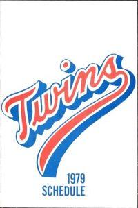 1979 MINNESOTA TWINS MAJOR LEAGUE BASEBALL SEASON POCKET SCHEDULE - SKELLY