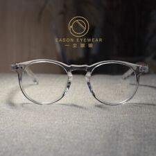 Crystal clear Retro John Lennon eyeglasses mens womens solid acetate RX eyewear