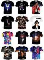 3D Print Michael Jackson Singer Women Men Casual Short Sleeve T-Shirt Summer Top