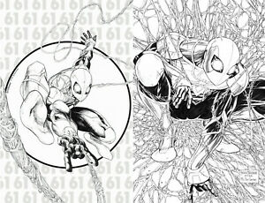 Amazing Spider-Man #61 #62 Tyler Kirkham Sketch BW 1 300 Homage Variant Set of 2