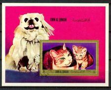 Umm al-Qiwain 1972 SG Z11 Foglietto 100% Usato Cani e Gatti