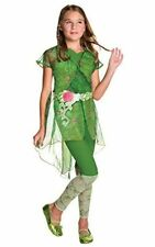 Poison Ivy Deluxe Costume Kids DC Super Hero Girls Outfit Large Age 8 - 10