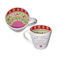 Inside Out Grandma Christmas Mug