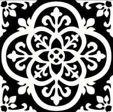 """Pack of 10, Gothic Peel And Stick Floor Tiles 10 Sq Ft Water-resistant 12"""" x 12"""""""