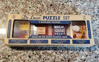 Vintage 1950s D. Robbins & Co De Luxe Magic Puzzle Set NOS