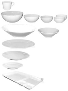 IKEA 365+, Geschirr, Service, weiß, rund, Teller,  Feldspat, IKEA, (kein Set)