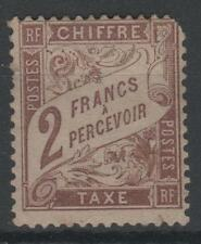 """FRANCE STAMP TIMBRE TAXE N° 26 """" TYPE DUVAL 2F MARRON """" NEUF x A VOIR N144"""