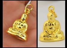 18 K  Gold 3D Buddha Meditation Yoga Compassion Love Pendant Buddhism Buddhist
