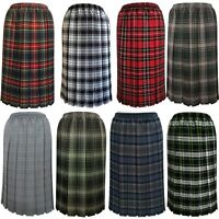 Tartan Pleated Skirts For The Older Women Ladies New Check Skirt Red Blue Black