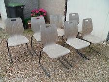 Lot 7 chaises design Marcel BREUER chaise années 1950/60 vintage
