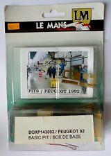 Box Stand Peugeot LE MANS 1992 -  Kit LE MANS MINIATURES  1:43