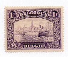 Belgium Scott 119, Mint Hinged, Scheldt River at Antwerp, 1fr Violet, SCV 32.50