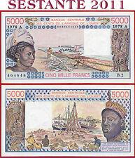 (com) WEST AFRICAN STATE IVORY COAST 5000 5.000 FRANCS 1978 - P 108Ab - XF/AUNC