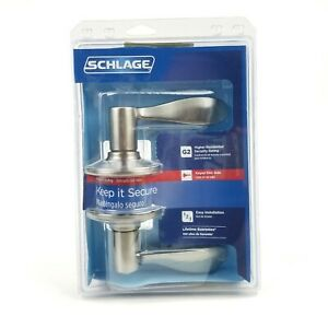 Schlage F51 V ACC 619 Accent Entry Lever Satin Nickel Keyed Entrance