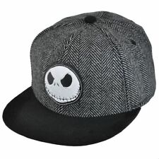 DISNEY'S NIGHTMARE BEFORE CHRISTMAS  JACK SKELLINGTON HERRINGBONE HAT/CAP - OSFM