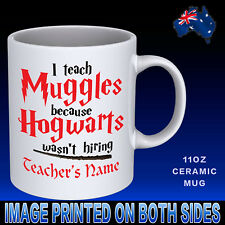 Teacher Hogwarts Personalised Name Coffee Mug Cup Novelty Gift Idea Harry Potter