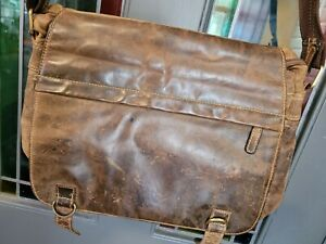 Shabby Chic Denning & Kane Brown Leather Gents Shoulder Bag