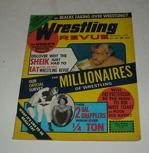 1974 WRESTLING REVUE MAGAZINE BLOODY FACE SHEIK Cover PAT PATTERSON MOON DOG