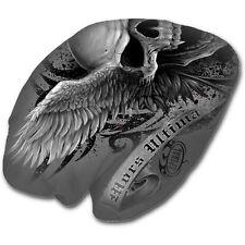 Spiral Direct ASCENSION beanie hat biker/gothic/skulls/wings/light cotton/grey