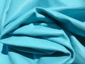 lambskin lamb leather hide Light Turquoise light weight  drapey soft 1 1/2 oz