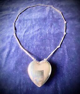 GEORG JENSEN💜Sterling Silver LARGE Joy Necklace #126 By ASTRID FOG.