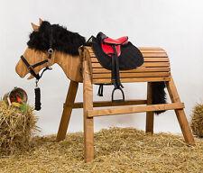 Holzpferd,Pferd,Voltigierpferd,bew.Kopf ca.115-116cm Lasur-Kastanie inkl.Zubehör