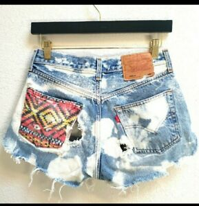 Vintage Levi 501 re/done jean Shorts The Laundry Room high waist cutoff 26