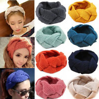 Sn _ Femme Crochet Fleur Noeud Tricot Maille Bandeau Cache Oreilles Cheveux Sac