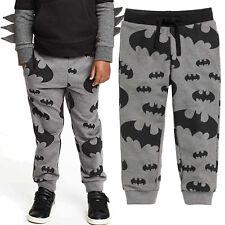 Baby Kids Boys Casual Cartoon Batman Printed Long Pants Elastic Trousers Bottoms