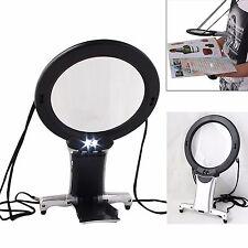 2 en 1 Manos Libres con 2 Luz LED Cuello Lupa Gigante Grande Lectura De Ayuda