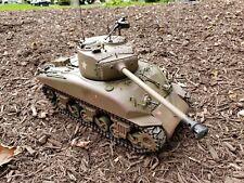 1:16 Mato Heng Long Sherman M4A1(76)W Clark Tk24 Taigen RC tank Customized