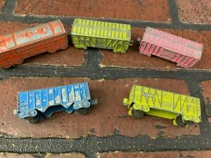 Vintage Diecast Toy Train Box Cars Lot of 5