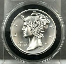 2 Troy Ounce Silver High Relief 1916 D Mercury Dime Design 2oz .999 Fine Silver