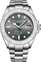 Stuhrling Depthmaster Men's 18 Jewel Swiss Automatic 200 Meter Dive Watch 893.02